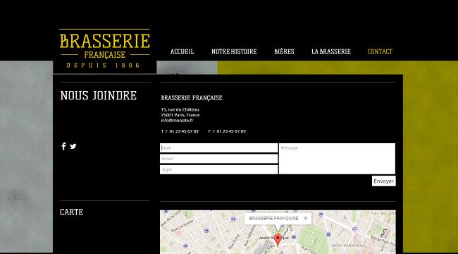 Brasserie Template de Site   WIX