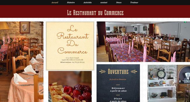 Restaurant du commerce à Marcillat en Combraille