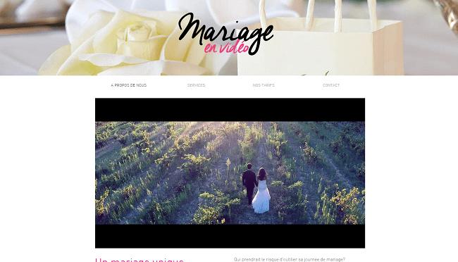 mariage en video