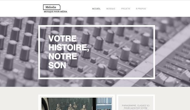 Producteur de Musique Template de Site   WIX
