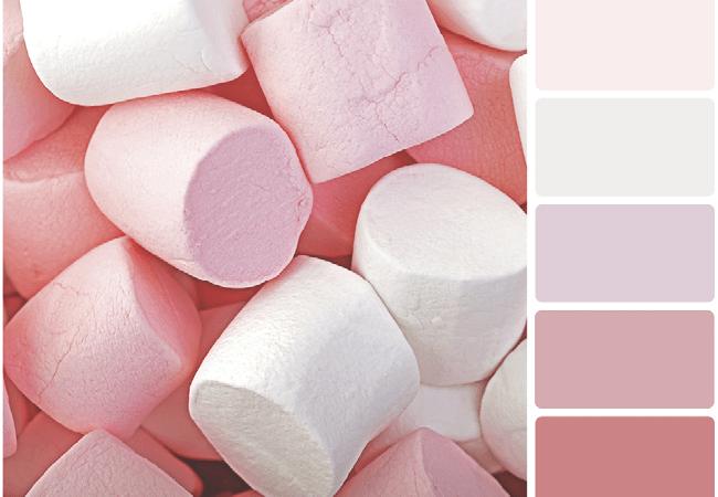 Palette de couleurs sucrées