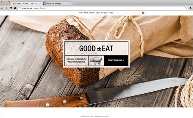 Gourmet Food Shop Template Wix