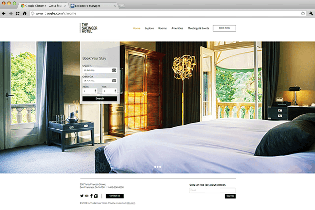 Hotel Moderne Template Wix
