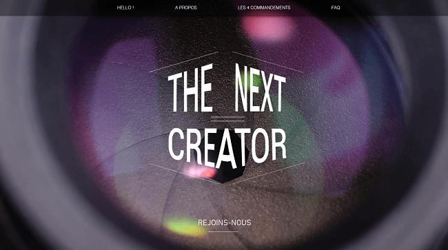 The Next Creator   Partenariat YouTube ouvert à tous
