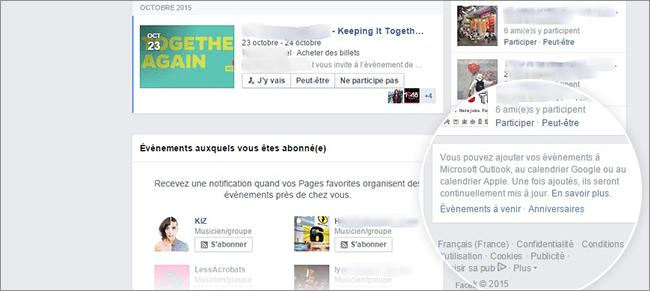 Synchroniser Calendrier Facebook