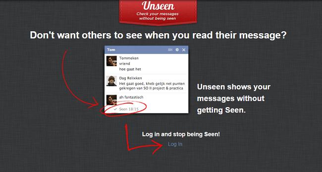 Unseen sur Facebook