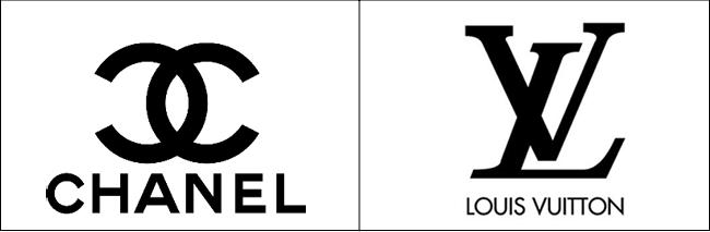 Logo Chanel et Louis Vuitton