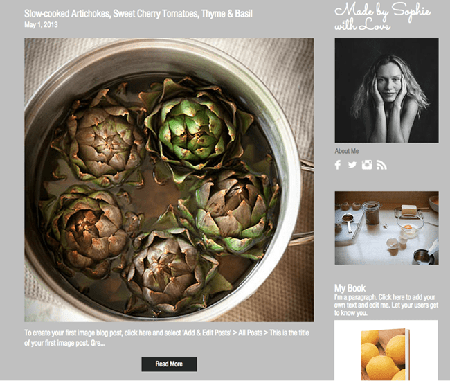 Template Wix : Food Blog