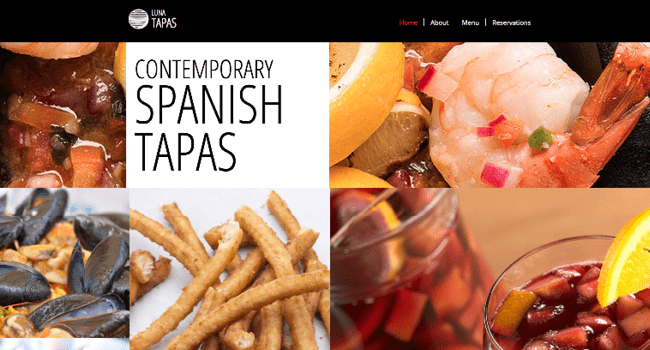 Template Wix : Tapas Restaurant