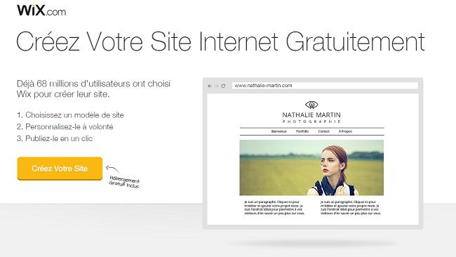 Créez votre site gratuit Wix.com
