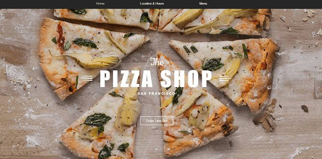 Template de Site WIX Pizzeria