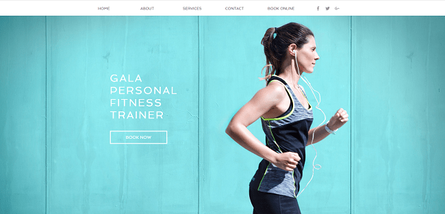 Personal Trainer Template de Site   WIX