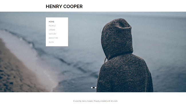 Photography Portfolio Template de Site   WIX