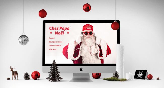 Site eCommerce avec Père Noël
