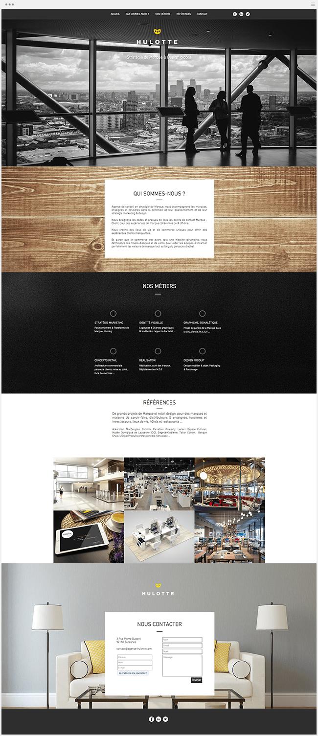 Agence Hulotte Stratégie Marque Site Wix
