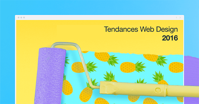 Tendances du web design 2016