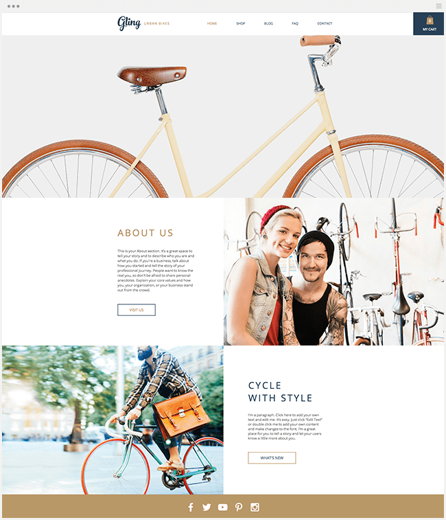 Template Wix : urban bikes
