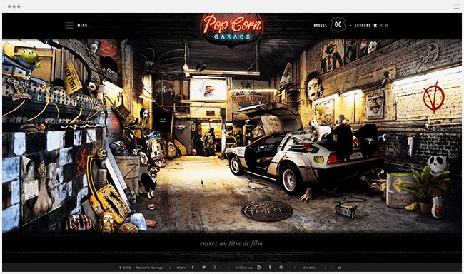PopCorn Garage Site culture cinéma