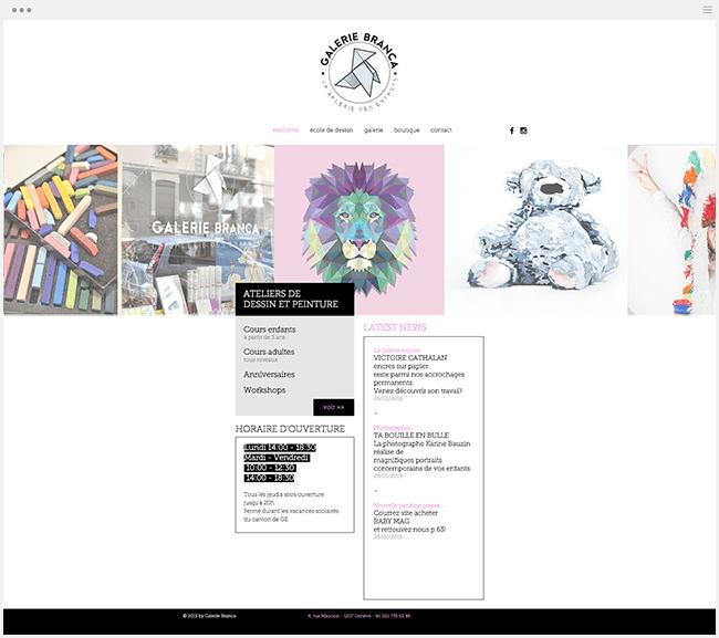 Galerie Branca Site Wix