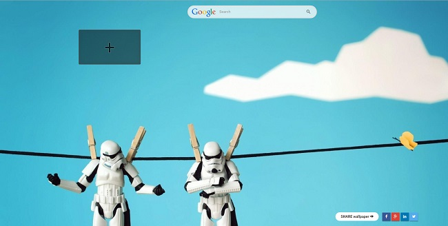 Extension Chrome : Star Wars New Tab