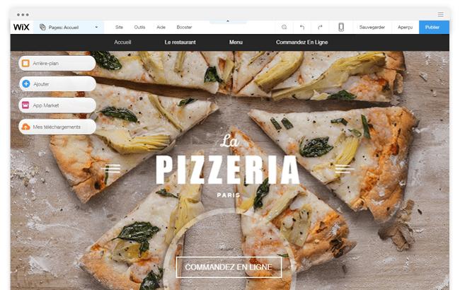 Wix Restaurants Pizza