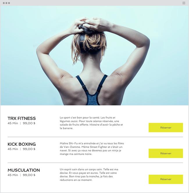 Femme Sport Wix Bookings