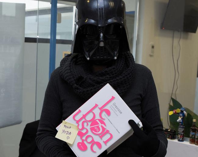 Bon Usage Grévisse Dark Vador Star Wars
