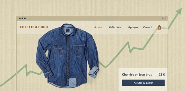 Ecommerce site croissance vêtements