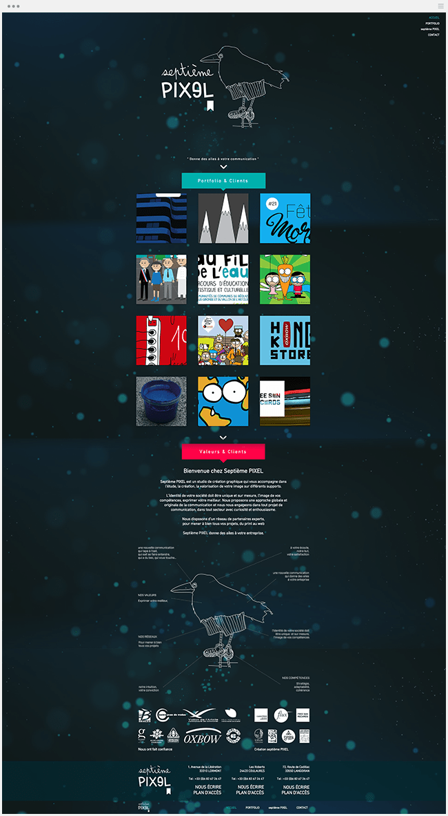 Septième Pixel site vitrine Wix