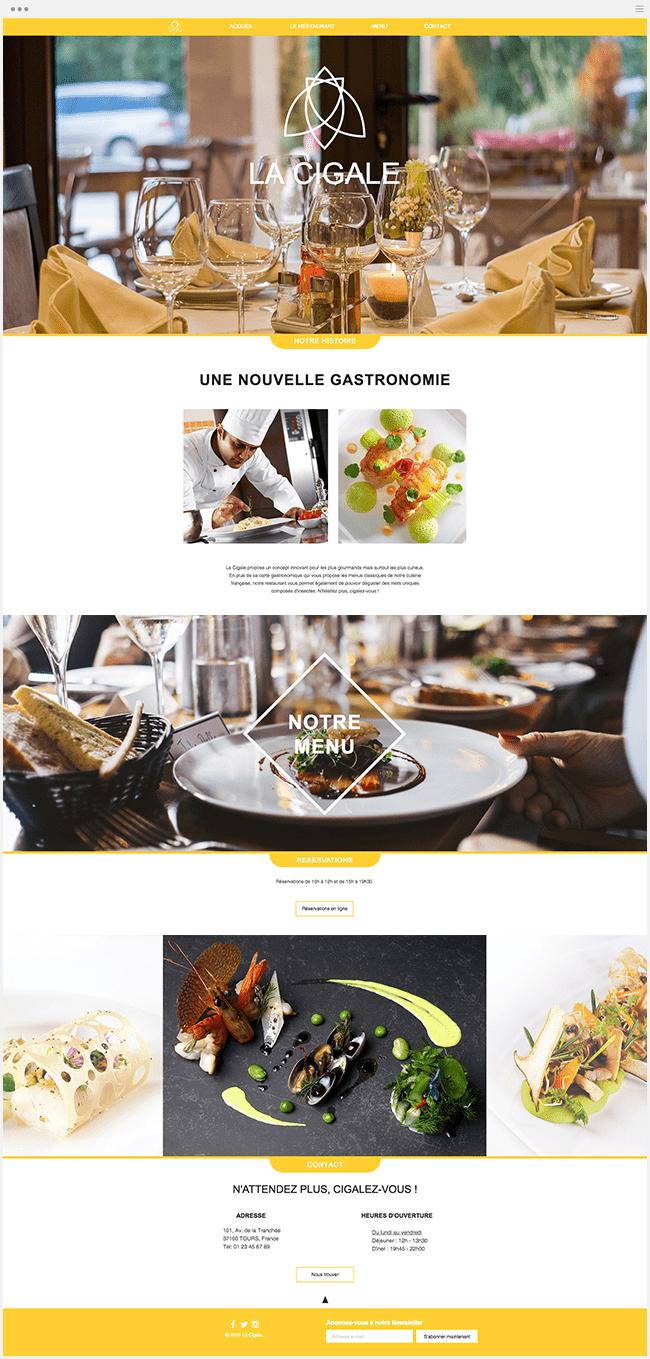 La Cigale Restaurant Wix