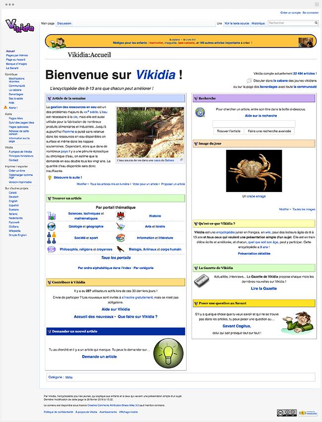 Vikidia Encyclopédie en ligne enfants Wikipédia