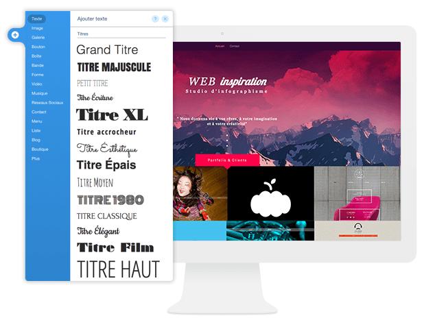 polices de caractères typographie gratuites Wix