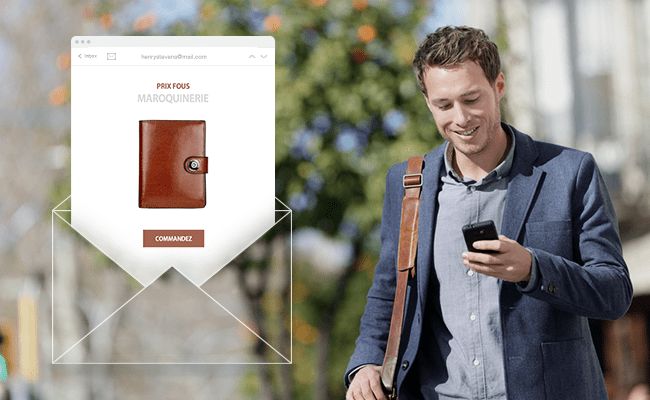 e-mail marketing portefeuille homme