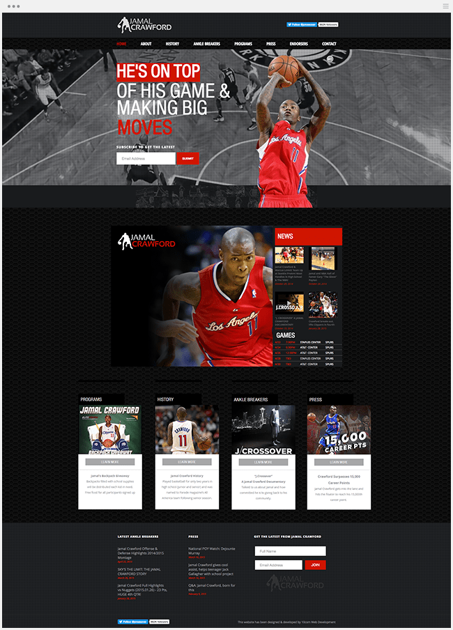 Le site officiel de Jamal Crawford