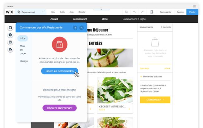 Wix Restaurants pour convertir vos visiteurs en clients