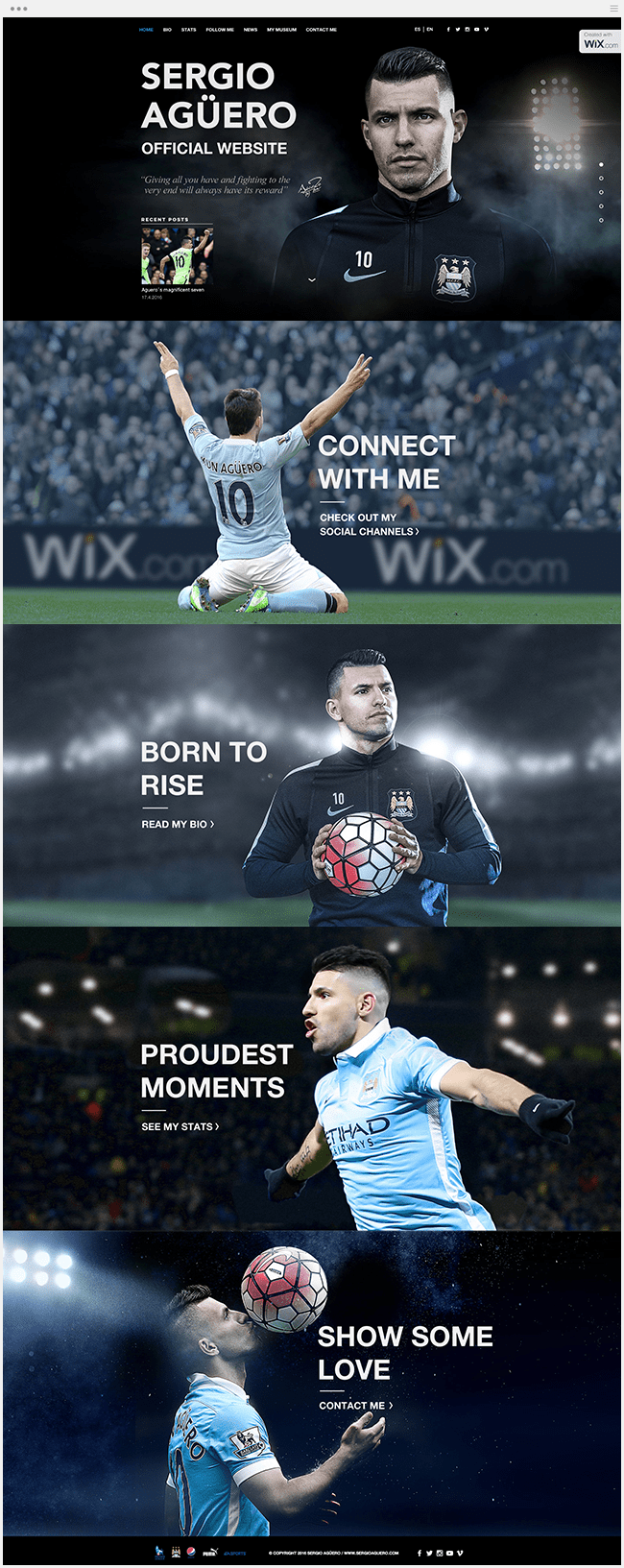 Site officiel de Sergio Aguero Manchester City