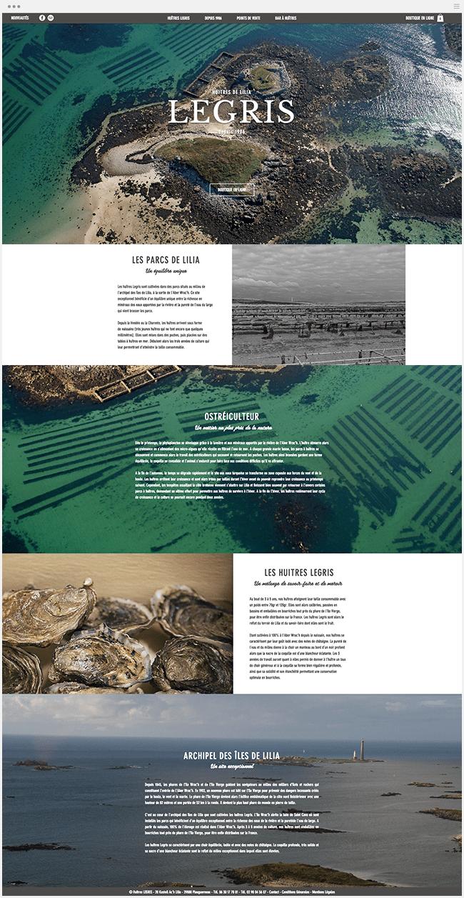 Huîtres Legris Site Wix