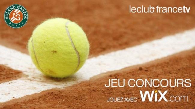 Gagnez des places pour la finale tennis RG jeu Wix France TV