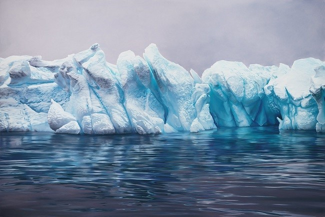Zaria Forman glacier