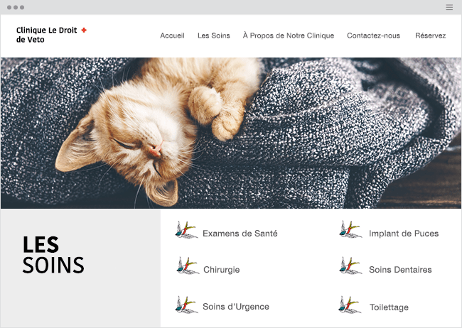 Liste services site internet icônes Wix