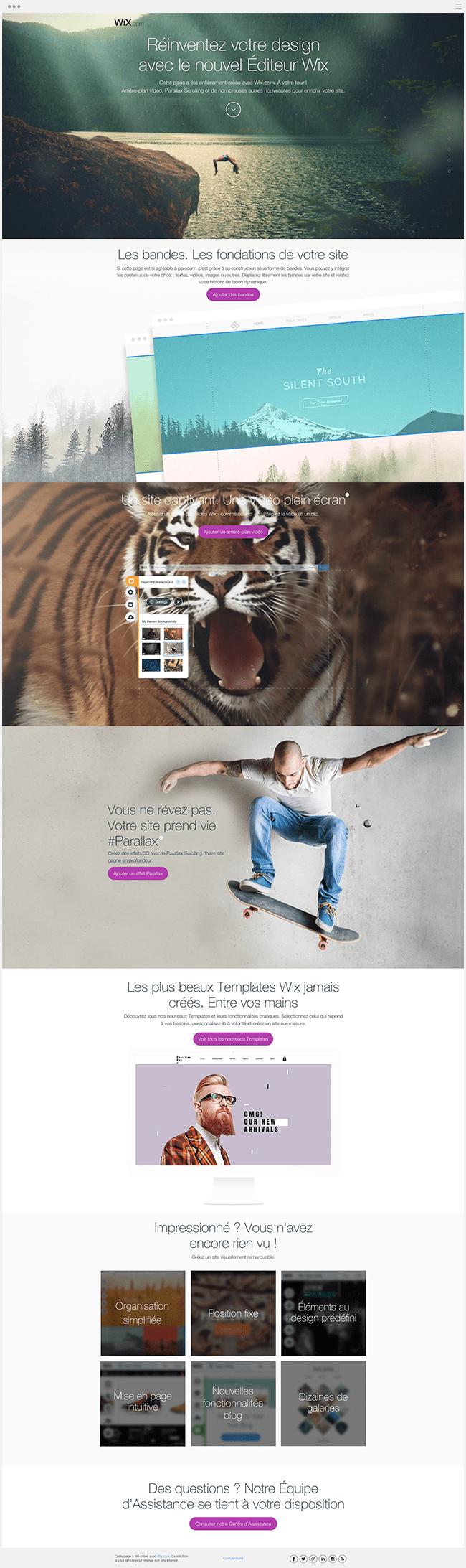 Landing Page Wix Nouvel Editeur