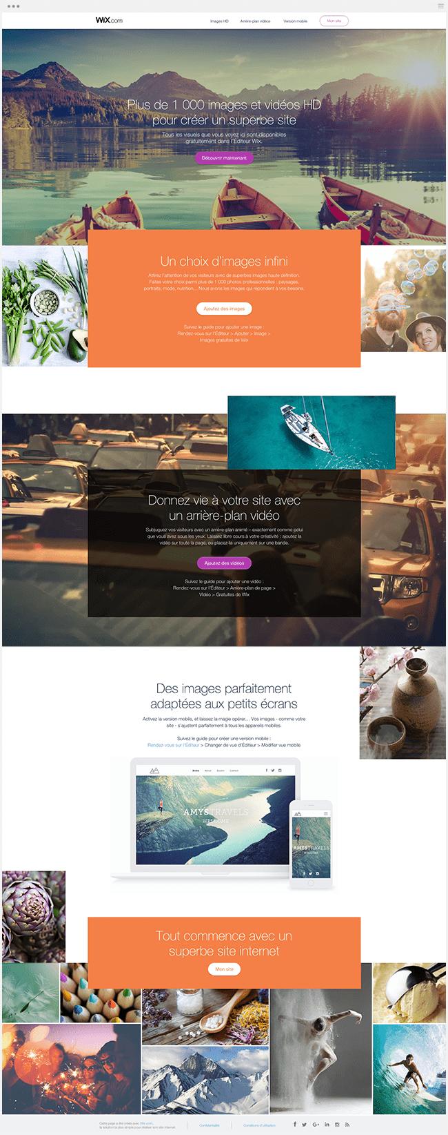 Landing Page Wix Multimédia Gratuit Images Vidéos