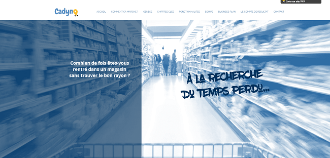 Cadyno projet startup finaliste wix challenge