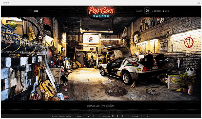 Pop Corn Garage procrastination jeu cinéma gratuit culture