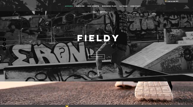 fieldy projet Wix Challenge finaliste