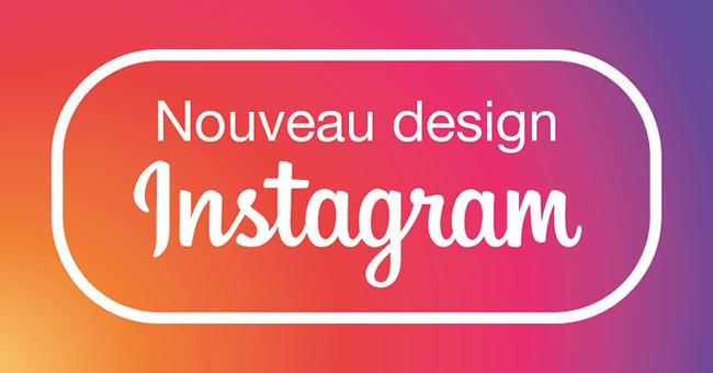 Nouveau design nouveau logo d'Instagram