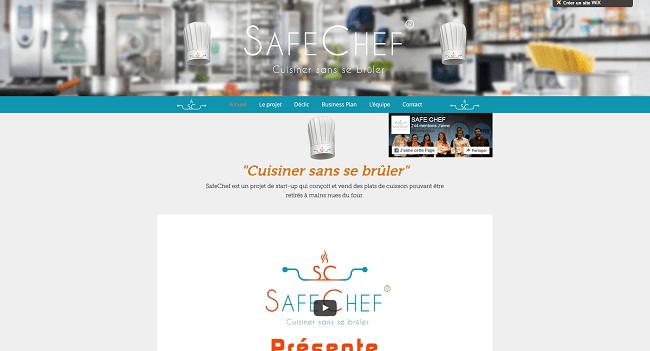 safechef projet startup finaliste wix challenge