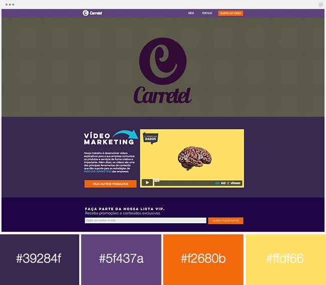 couleurs complémentaires adjacentes site internet