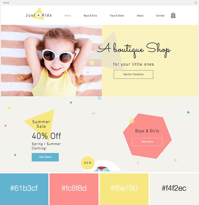 couleurs triadiques exemples site internet