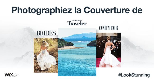 Wix Photography photographiez la couverture de Vanity Fair Conde Nast concours
